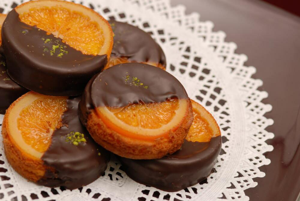 銀座スイーツリキュール香るバレンシアオレンジとチョコレートの組合せ『ガレットオランジェ』16個入り【内祝い】