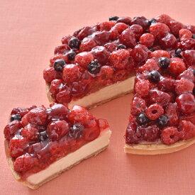 【送料無料!】コクのあるレアチーズ風味のタルトの上に甘酸っぱいフルーツがどっさり『ニューヨークスタイル』6寸サイズ【ネット限定】【誕生日】【記念日】【内祝い】