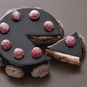 【送料無料!】『ショコラフランボワーズ』3種のチョコレートの味わいにフランボワーズの酸味が調和するケーキです☆【誕生日】【記念日】【内祝い】