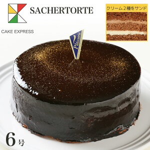 ザッハトルテ チョコレートケーキ 6号バレンタインバースデーケーキ 誕生日ケーキ 【送料無料】 7〜10名様用 お取り寄せスイーツ 大人 男性 冷凍 チョコプレート付