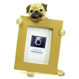 ピクチャーフレーム mini パグ (フォーン) (from USA)フォトフレーム フォトスタンド 犬グッズ 写真立て 写真たて 出産祝い 犬雑貨 結婚祝いのプレゼント 喜ばれる ギフト おしゃれ かわいい アニマル フォトグッズ 通販 楽天 母の日 こどもの日 お年賀 プレゼント