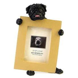 ピクチャーフレーム mini パグ (黒パグ) (from USA)フォトフレーム フォトスタンド 犬グッズ 写真立て 写真たて 出産祝い 犬雑貨 結婚祝いのプレゼント 喜ばれる ギフト おしゃれ かわいい アニマル フォトグッズ 通販 楽天 母の日 こどもの日 お年賀 プレゼント