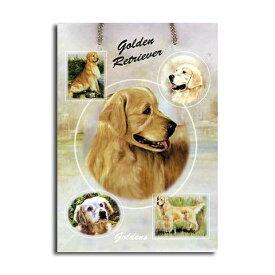 ギフトバッグ 大 ゴールデンレトリバー 世界的に有名な動物画家「ルス・メイステッド」さんデザイン(紙袋 犬グッズ コレクション USA デザイナーブランド ラッピング ラッピングバッグ 手提げ 犬雑貨 誕生日 プレゼント ギフト 母の日 通販 楽天)