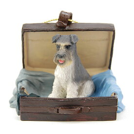 トラベルドッグ・オーナメント シュナウザー(グレー) (FROM USA) (犬置物 犬雑貨 犬グッズ フィギア インテリア ギフト コレクション) 卒業式 プレゼント ギフト お返し ルシアン