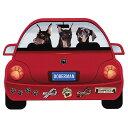【メール便送料無料】レッドカー・ペット・マグネット From USA ドーベルマン 犬のカーマグネットステッカー☆赤い車…