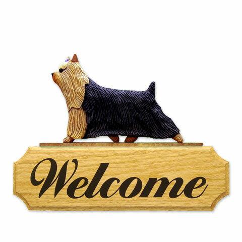 ウェルカムサイン 【ヨーキー】from USA (犬グッズ ウェルカムボード オーナーグッズ 玄関 開店祝い 犬雑貨 インテリア 看板 玄関グッズ セキュリティーグッズ) 卒業式 プレゼント ギフト お返し ルシアン