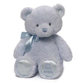 【GUND】 マイ 1st テディ ブルー M 優しいブルー 1歳記念 誕生日 出産祝い ハーフバースデー プレゼント 初めてのテディベア 贈り物 ギフト ルシアン