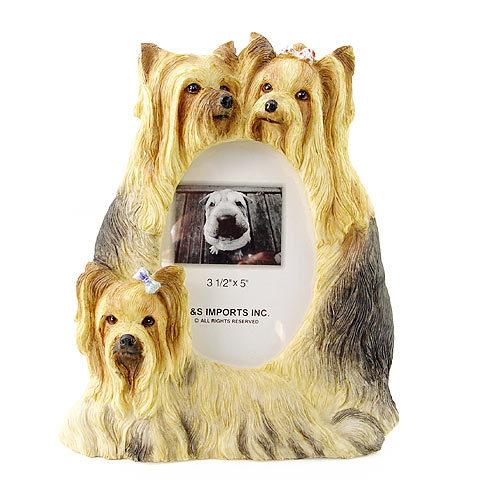ピクチャーフレーム(スタンダード) ヨークシャーテリア 3 縦型(ヨーキー)(from USA)(フォトフレーム フォトスタンド 犬グッズ 写真立て 写真たて 記念品 輸入雑貨 出産祝い 犬雑貨) 卒業式 プレゼント ギフト お返し ルシアン