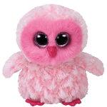 〜ビーニーブーズ〜【ty】ピンクのふくろうツイッギーぬいぐるみビーニーブーズMサイズBeanieBoo's卒業式プレゼントギフト母の日お返し