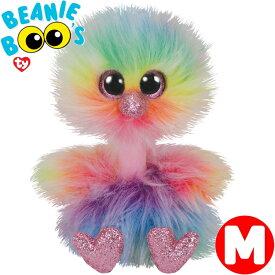 TY ぬいぐるみ トリのアシャ Mサイズ 15cm Beanie Boo's レインボー あす楽 出産祝い 誕生日 プレゼント かわいい キラキラ インテリア ギフト ルシアン