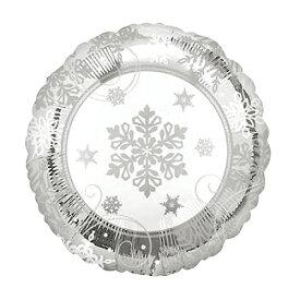 バルーン クリスマス 雪の結晶 白色 45cm ヘリウム入り ツリー プレゼント 電報 ギフト 飾り付け 装飾 デコレーション ルシアン あす楽