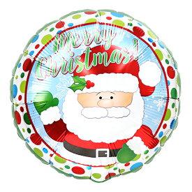 バルーン クリスマス サンタ&ドット 45cm ヘリウム入り ツリー プレゼント 電報 ギフト 飾り付け 装飾 デコレーション ルシアン あす楽
