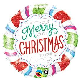 バルーン メリーリトルクリスマス キャンディ 45cm ヘリウム入り ツリー プレゼント 電報 ギフト 飾り付け 装飾 デコレーション ルシアン あす楽