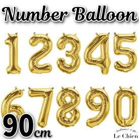 数字 ナンバーバルーン 特大90cm!ゴールド 誕生日 飾り付け デコレーション 装飾 バースデー パーティー 【メール便対応】 七五三 パーティーグッズ