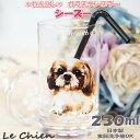 グラス タンブラー【シーズー】犬 ガラスのコップ 日本製 230cc わんコレ 卒業式 プレゼント ギフト お返し ルシアン