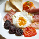 ブラックプディング(豚の血の腸詰め)(160g) イギリスの朝食の定番。オーツ麦と血の絶品ソーセージ