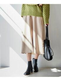 [Rakuten Fashion]シープレザークロスフレアスカート le.coeur blanc ルクールブラン スカート フレアスカート ベージュ グリーン【送料無料】