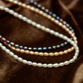 ベビーパール ネックレス てりてり淡水真珠 ペンダントチェーンとしても人気♪