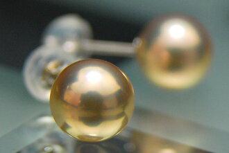 Metallic shine best Pearl K14WG grade 8 mm Freshwater Pearl Earring (earring-friendly)