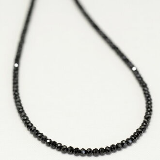 4/14/2011 Jewelry Department sales 1st place! Brilliance reminiscent of black diamond! ブラックスピネルネックレス. 2.5 Mm pendant, 3 mm up to only use recommended!