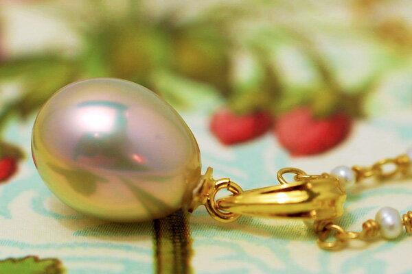 【極てり特別版!】8mmドロップ淡水真珠ペンダントトップ 別格の美しさ! AAAロット選り抜きのメタリックなまでのてり