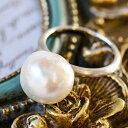 11mm バロック淡水真珠 リング メタリックなてりの存在感抜群大珠パール! 艶消しが上品なシンプルリング
