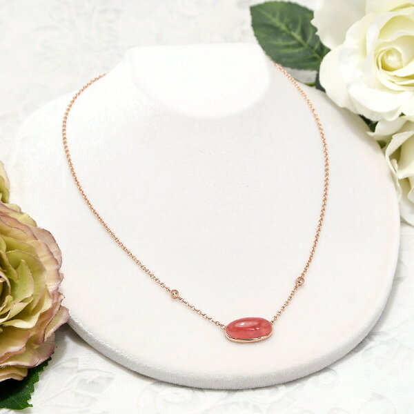 インカローズ ピンクトルマリン ネックレス うるうる大粒ピンクが大人可愛い KA02 SR00203-24-GM SVN0447-59-7-RS