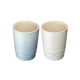 ペア・ショート・タンブラー コースタルブルー&ホワイトラスター ル・クルーゼ ルクルーゼ LE CREUSET ブライダル Bridal 結婚祝い 内祝い ギフト ストーンウェア 食器