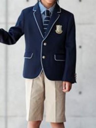 子供スーツレンタル おとこのこスーツ 入学式スーツ 男の子フォーマル 男児スーツ 入学式  結婚式 発表会 七五三 レンタルスーツ【レンタル/サイズ 110 120 130/b-67】MICHIKO LONDON・SA KU RA ニットタイが珍しい紺色スーツに白パイピング fy16REN07