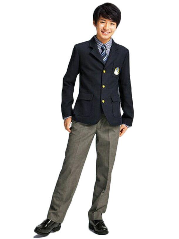 【レンタル】[ 160 170サイズ/b-120 ]爽やかなアイビースタイル IVY LEAGUEシングルブレザースーツセット 卒業式 スーツ 男の子 男児 男の子スーツ 卒服 小学生 卒業式スーツ 卒業服 ジュニア ブラックフォーマル fy16REN07