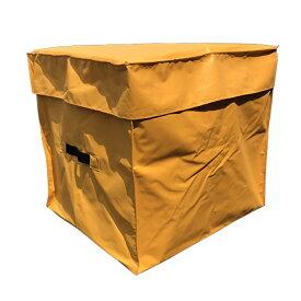 【あす楽】エステル帆布製 収納袋 大 毛布収納 毛布入れ ファスナー付き 完全防水 養生シート収納 かさばるシートなどの収納整理に トラックシート素材 80×70×70cm
