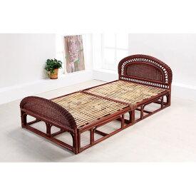 籐 ラタン シングルベッド(フレーム)組立式 アジアン リゾート家具 高級ラタン エスニック バリ 高品質 温浴備品 おしゃれ 高耐久 長持ち 敬老の日