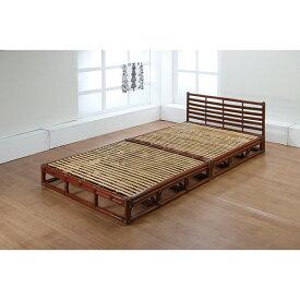 籐 ラタン シングルベッド(フレーム)組立式 アジアン リゾート家具 高級ラタン エスニック バリ 高品質 温浴備品 おしゃれ 高耐久 長持ち