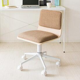 オフィスチェア 布地 ファブリック おしゃれ パソコンチェア デスクチェア 椅子 オフィス キャスター付き 北欧 ブルー ブラック ナチュラル グリーン ベージュ