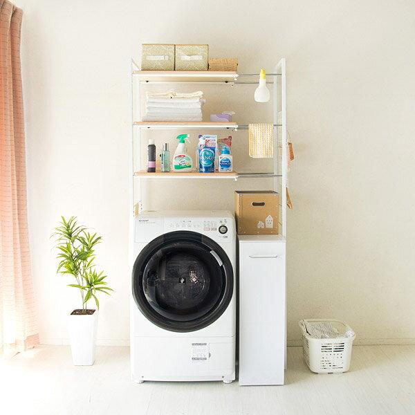 ランドリーラック ランドリーチェスト ランドリー収納 おしゃれ 洗濯機収納 洗面所収納 ホワイト ブラック 白 おしゃれ シンプル【SS】