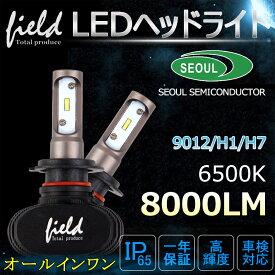 車検対応 LEDヘッドライト8000LM 6500K LEDヘッドライトバルブ H1/H7/H8/H11/H16/HB4 8000LM LEDキット オールインワンタイプ 12V/24V S1ファンレスタイプ 遮光板採用 車 カスタム パーツ プリウス 30 アルファード 20系 ジムニー