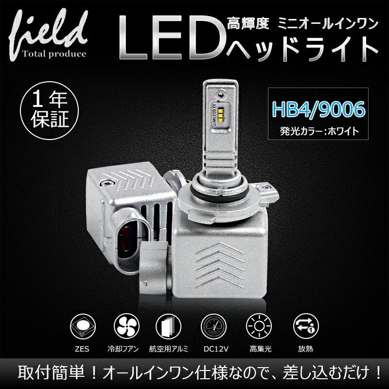 新品ミニオールインワン LEDヘッドライト 車検対応 1年保証付 HB4/9006 50000時間以上Philips ZES LEDフォグランプ 片側30W 9S 瞬間起動 一体型 電装 パーツ