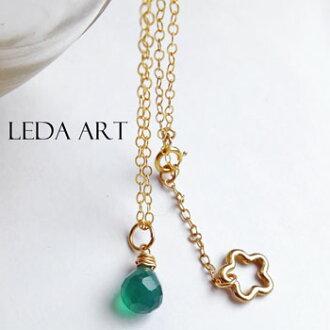 005e380538036b LEDA ART: Ladies j jewelry ladies necklace natural stones necklace green natural  stone green Onyx grain necklace gold necklace 14gf gold field   Rakuten ...