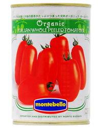 【あす楽】【包装不可】 モンテベッロ(スピガドーロ) オーガニック(有機栽培) ホールトマト(丸ごと) 400g