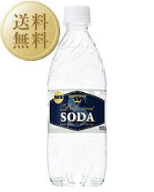 【送料無料】 サントリーソーダ 強炭酸 ペットボトル 1ケース 24本入 490ml ペットボトル 炭酸水 他商品と同梱不可