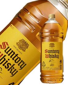 【包装不可】 サントリーウイスキー 角瓶40度 4000ml(4L)ペットボトル