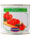 【包装不可】 モンテベッロ(スピガドーロ)オーガニック(有機栽培)ダイストマト(角切り) 2550g