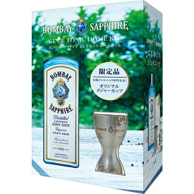 【包装不可】 ボンベイ サファイア(ボンベイサファイア) メジャーカップ付き 47度 750ml 正規