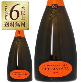 【包装不可】【よりどり6本以上送料無料】 スパークリングワイン ベラヴィスタ フランチャコルタ アルマ キュヴェ ブリュット 750ml 正規 スパークリング ワイン イタリア