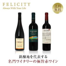 赤ワイン ワインセット ヨーロッパ3国 極旨赤ワイン 3本セット 第4弾 飲み比べ 赤 ワイン セット 【送料無料】【包装不可】