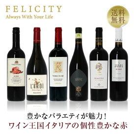 ワイン王国「イタリア」の赤ワイン6本セット 15弾 750ml×6飲み比べ ワイン セット wine wain 【送料無料】【包装不可】