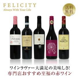 至福の赤ワイン 5本セット 第3弾 750ml×5 飲み比べ ワイン セット wine wain フランス イタリア スペイン ドイツ チリ 【送料無料】【包装不可】
