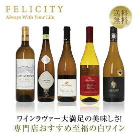 専門店が選ぶ 至福の白ワイン 5本セット 第2弾 750ml×5 飲み比べ ワイン セット wine wain 【送料無料】【包装不可】