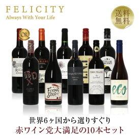 ワインセット 赤ワイン選りすぐり パーティー10本セット 第8弾 750ml×10 飲み比べ 赤 ワイン セット 【送料無料】【包装不可】
