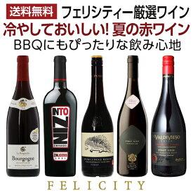 華やかで上品な春の赤ワイン 5本セット 750ml×5 飲み比べ ワイン セット wine wain フランス イタリア 南アフリカ アメリカ 【送料無料】【包装不可】